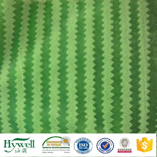 100% Polyester Knitting PV Plush Fabric for Sofa Toy Blanket