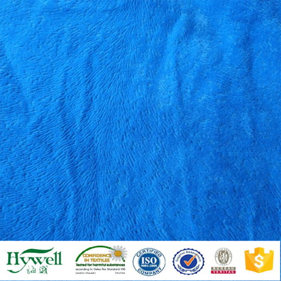 Plain Upholstery Flocking Fabric for Sofa Furniture