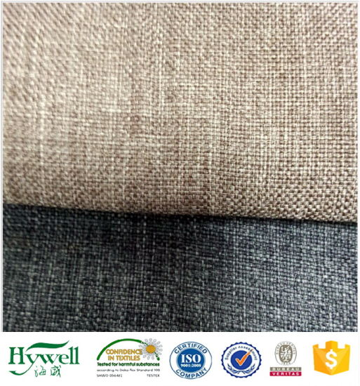 2018 Polyester Linen Fabric for Sofa and Furniture