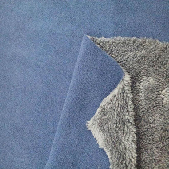 100% Polyester Polar Fleece with Sherpa Lined for Baby Blanket