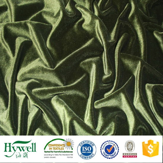 Polyester Velvet Curtain Fabric with Wide Width