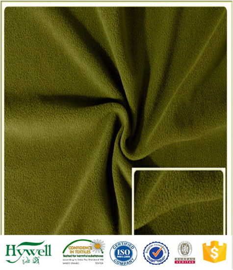 Double Side Brush One Side Anti Pill Fleece Fabric
