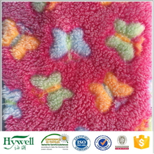Knitted Coral Fleece Fabric with Print Design
