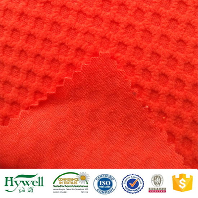 100% Polyester Jacquard Fleece Fabric for Softshell Lining