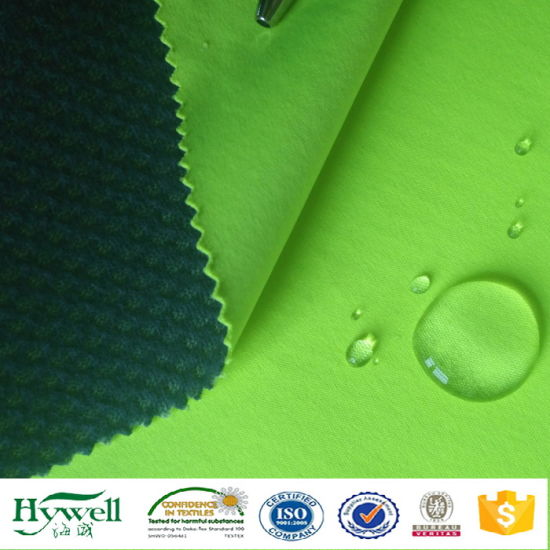 30d 40g Interlock Fabric Laminated Tricot Mesh Softshell Fabric