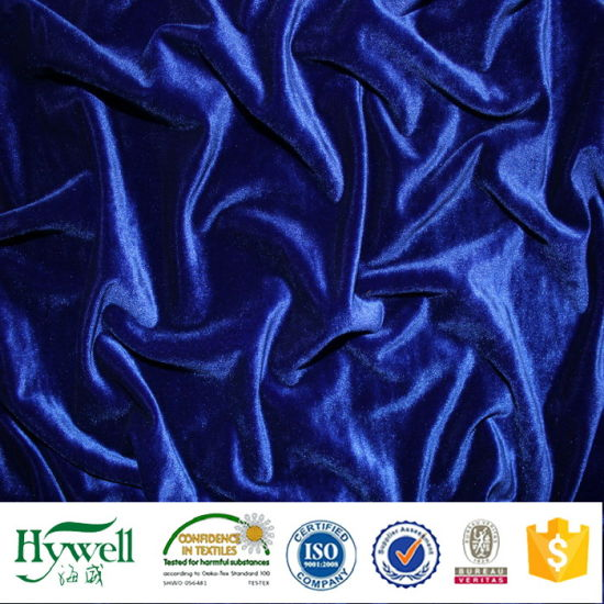 Lycra Polyester Spandex Velvet Fabric for Track Suit